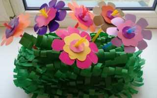 Цветочная композиция своими руками в детский сад