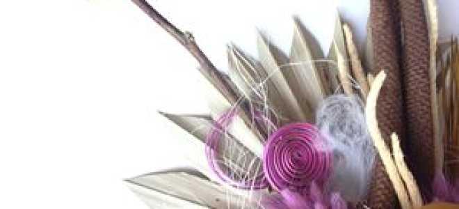 Объемные сухие цветы