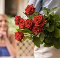 Ярко красные розы