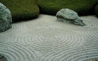 Мини сад камней своими руками