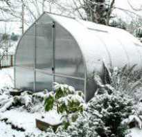 Пункт i расчищаем теплицу от снега