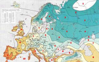 Факторы определяющие зону морозостойкости