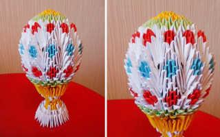 Пасхальное яйцо из оригами