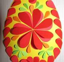 Аппликация пасхальных яиц для детей 3 лет