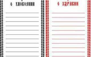 Как писать поминальные записки в церкви